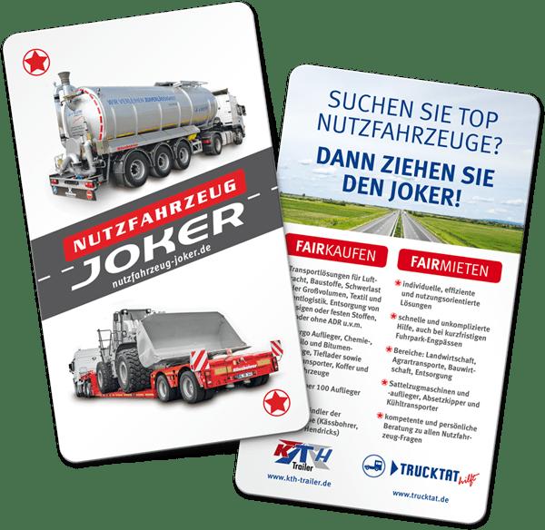 Rückemänner Werbeagentur Trucktat Nutzfahrzeugjoker Karte
