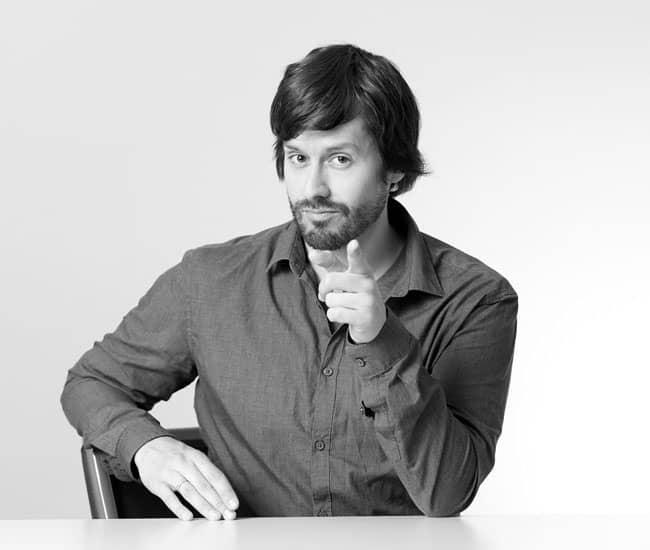 Daniel Kaesmacher, Inhaber und Kreativdirektor der Rückemänner Werbeagentur Hamburg