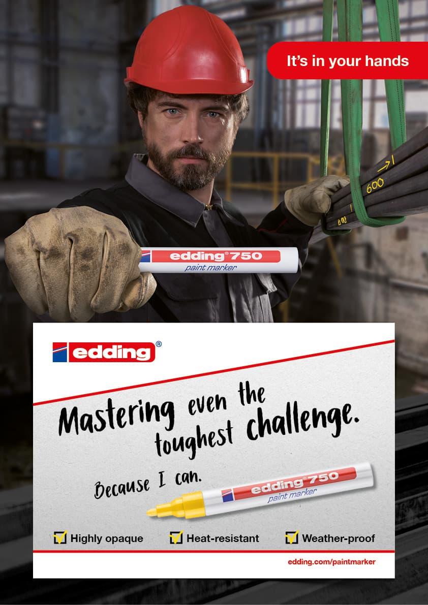Die Rückemänner B2B-Kampagne edding 750