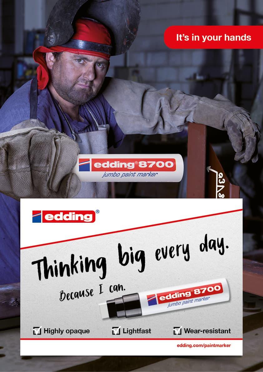 Die Rückemänner B2B-Kampagne edding 8700