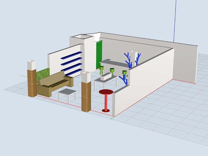 Rückemänner Werbeagentur Hamburg Messestand-Entwicklung 3D Gitter