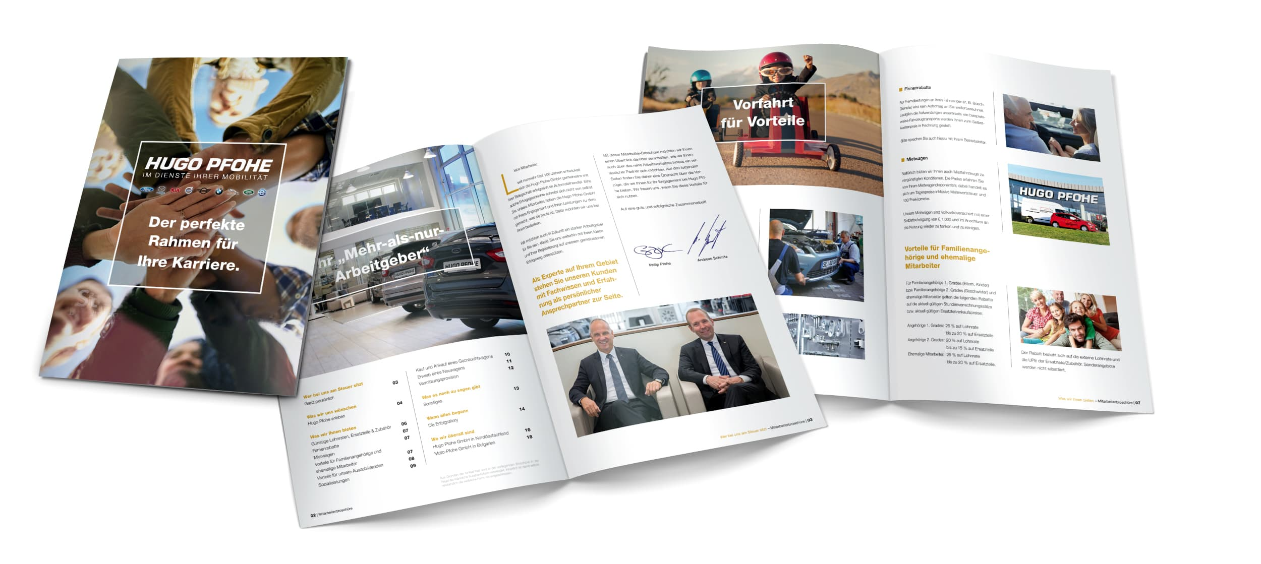 Rückemänner Werbeagentur Hamburg Mitarbeiter-Broschüre HugoPfohe