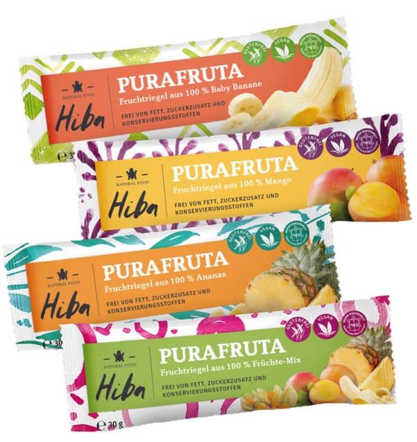 Hiba Purafruta Früchteriegel Verpackungsdesign Die Rückemänner Werbeagentur