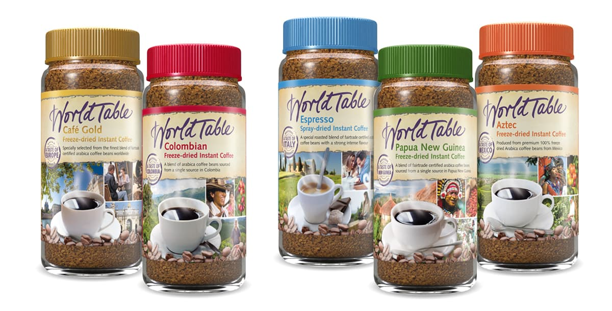 Rückemänner Werbeagentur Packaging Design Verpackungsdesign World Table Coffee