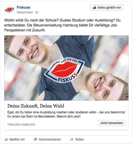 Rückemänner Werbeagentur Personalmarketing Employer Branding Facebook Ads