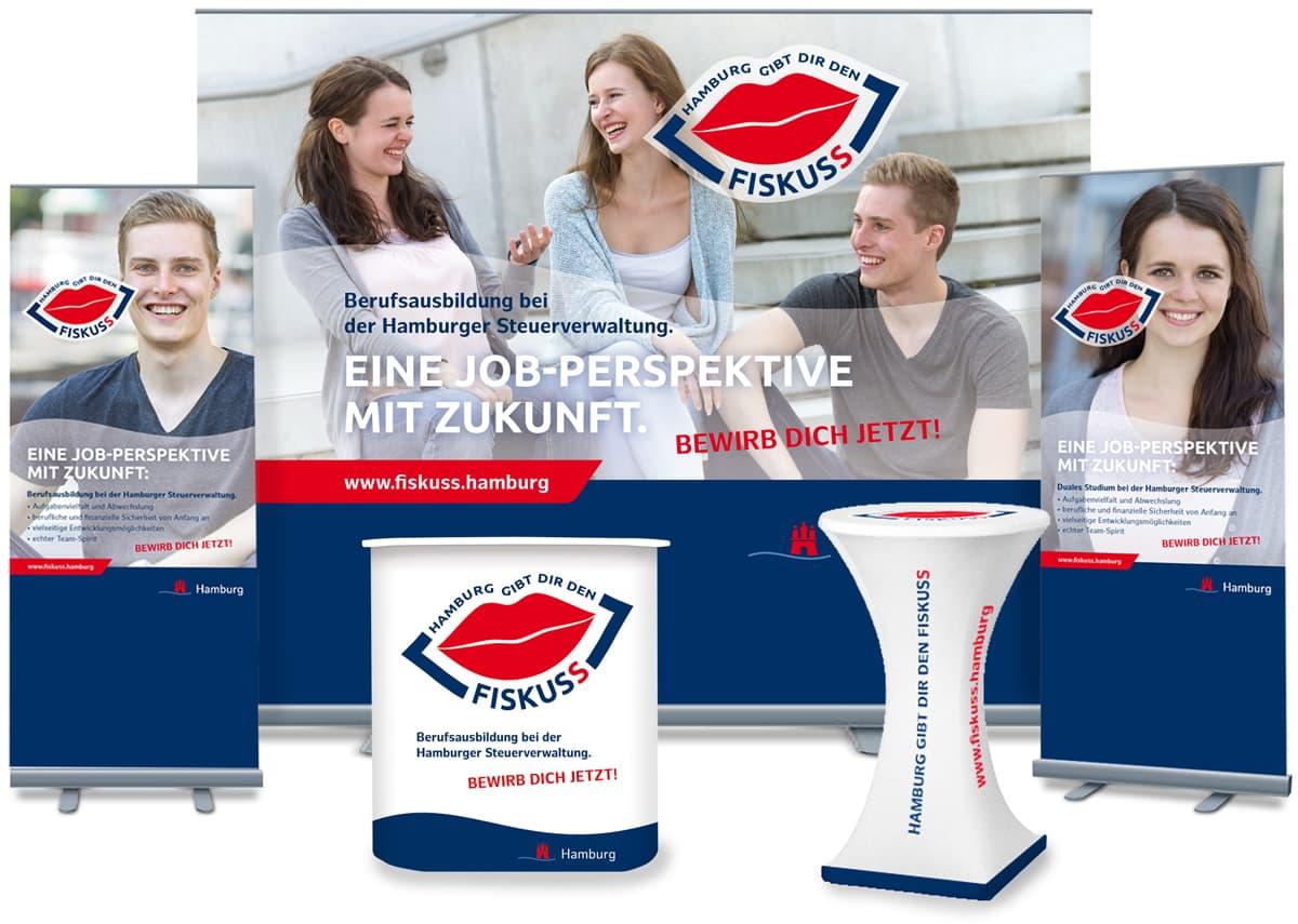 Rückemänner Werbeagentur Personalmarketing Employer Branding Messestand Steuerverwaltung