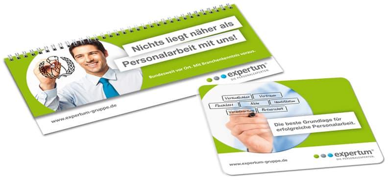Rückemänner Werbeagentur Personalmarketing Employer Branding expertum Werbemittel