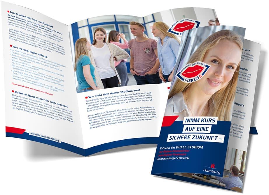 Rückemänner Werbeagentur Personalmarketing Employer Branding Werbeflyer Steuerverwaltung