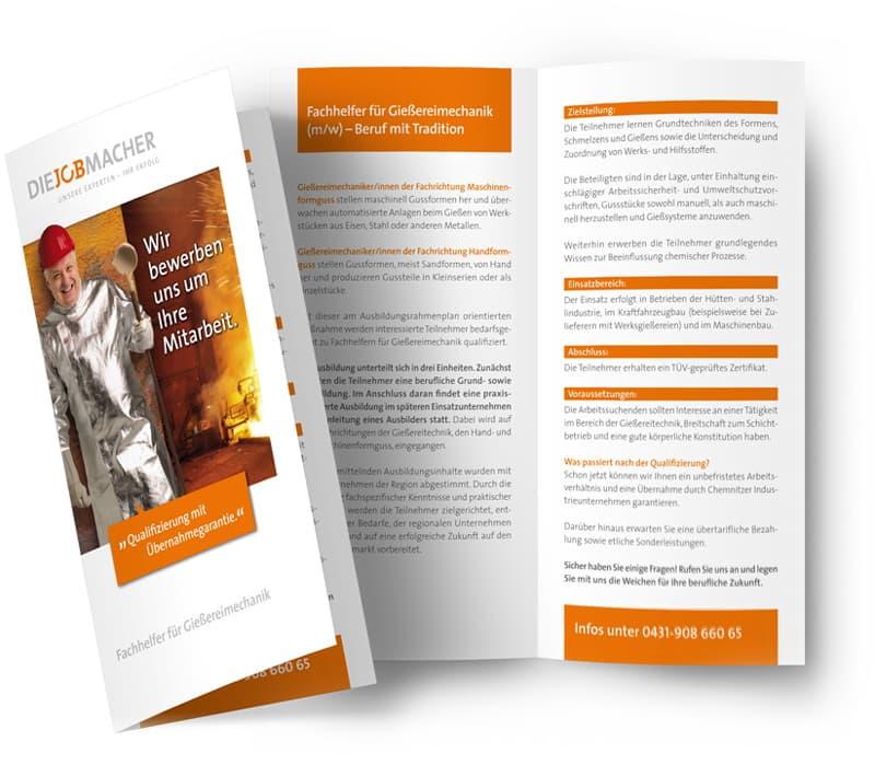 Rückemänner Werbeagentur Personalmarketing Employer Branding Jobmacher Flyer