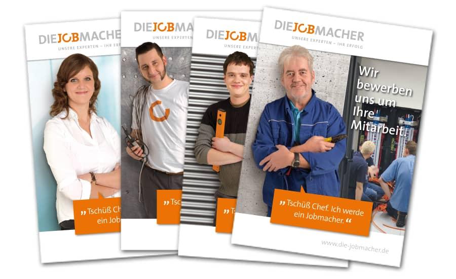 Rückemänner Werbeagentur Personalmarketing Employer Branding Jobmacher Postkarten