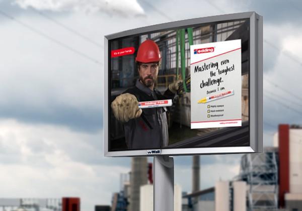 edding Plakatmotiv Rückemänner Werbeagentur Hamburg B2B-Kampagne