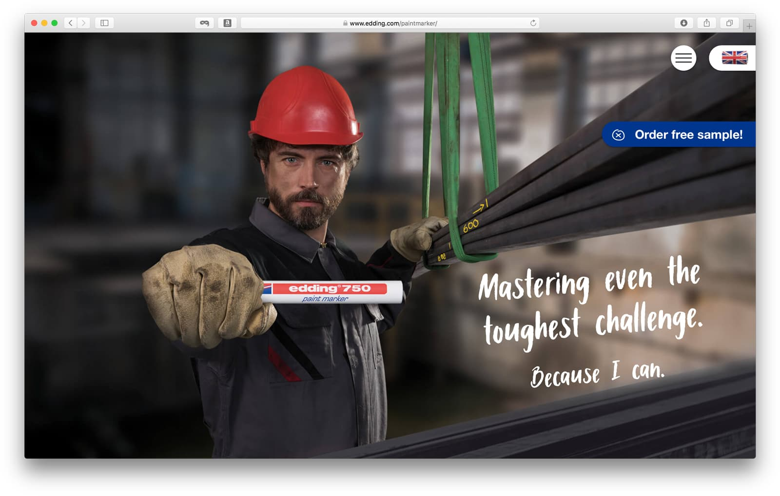 Edding Landingpage Startseite Rückemänner Werbeagentur Hamburg B2B-Kampagne
