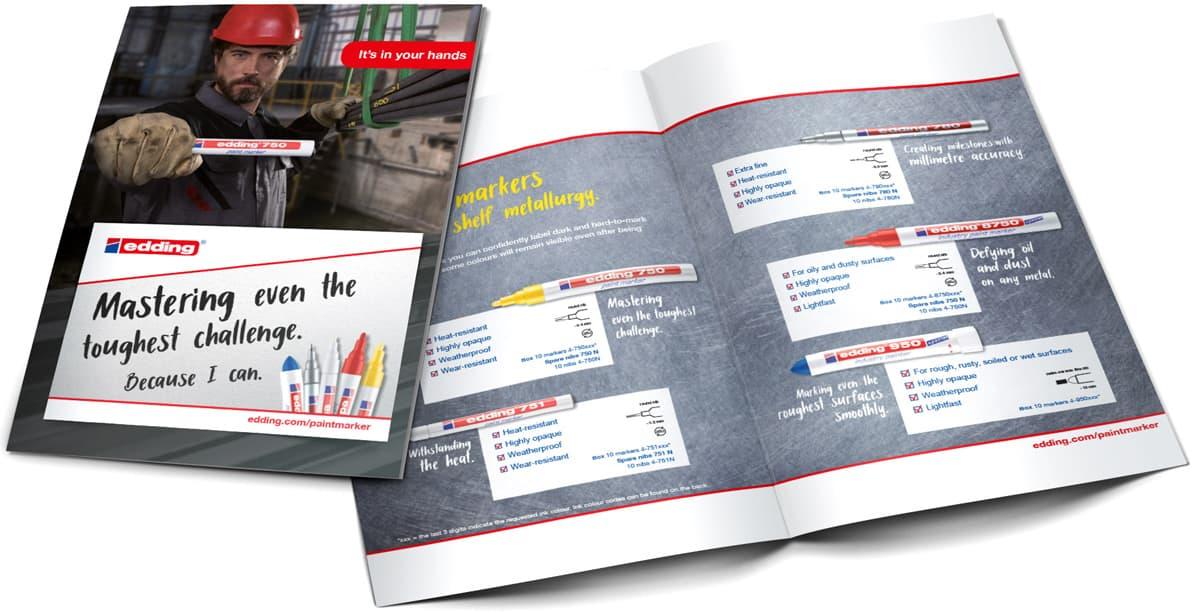 Edding Paint Marker Sales Folder Rückemänner Werbeagentur B2B-Kampagne