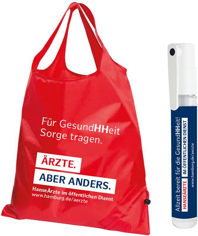 Give Aways für die Employer Branding Kampagne des Personalamt Hamburg Rückemänner Werbeagentur