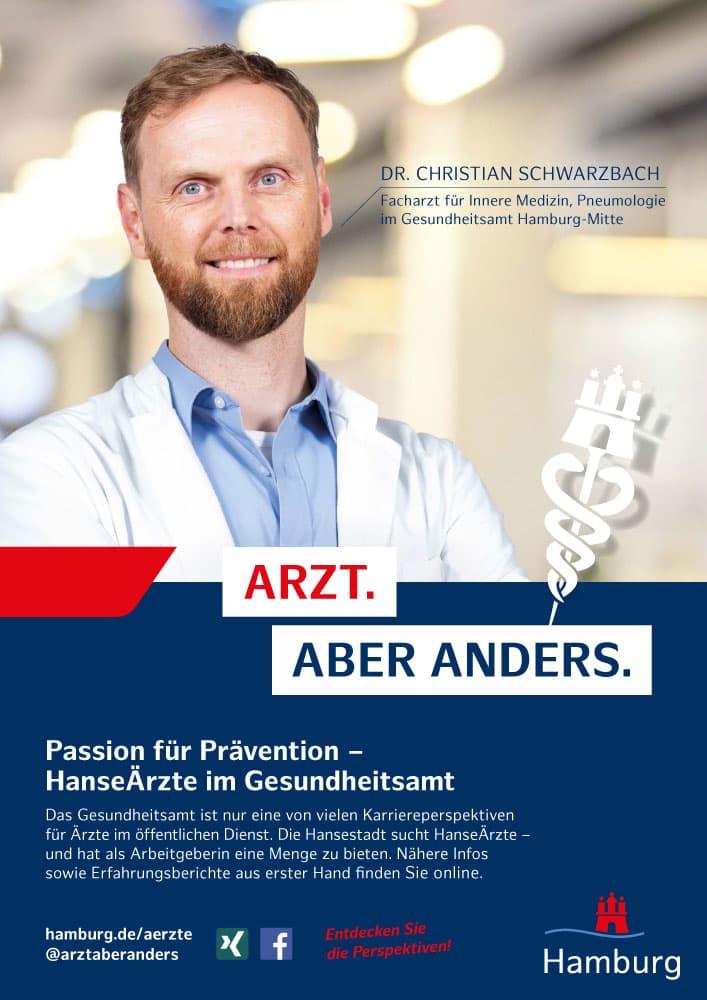 Plakatmotiv Schwarzbach aus der Employer Branding Kampagne des Personalamt Hamburg Rückemänner Werbeagentur