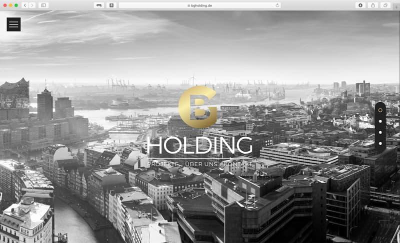 Rückemänner Webdesign Referenz Screenshot BGHolding