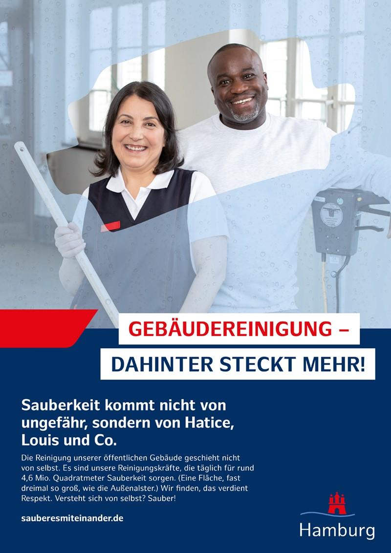 Rueckemaenner Werbeagentur Hamburg Wertschaetzungskampagne Plakat Werbung Leitstelle Gebaeudereinigung