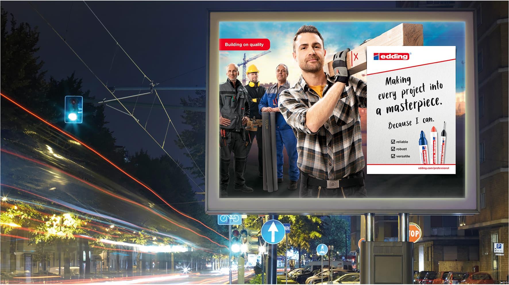 edding Craftsmen Kampagne Plakat Mock-Up Rückemänner Werbeagentur Hamburg