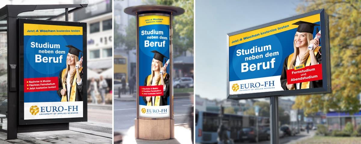 Euro-FH Out-of-Home Kampagne bis 2018 Rückemänner Werbeagentur