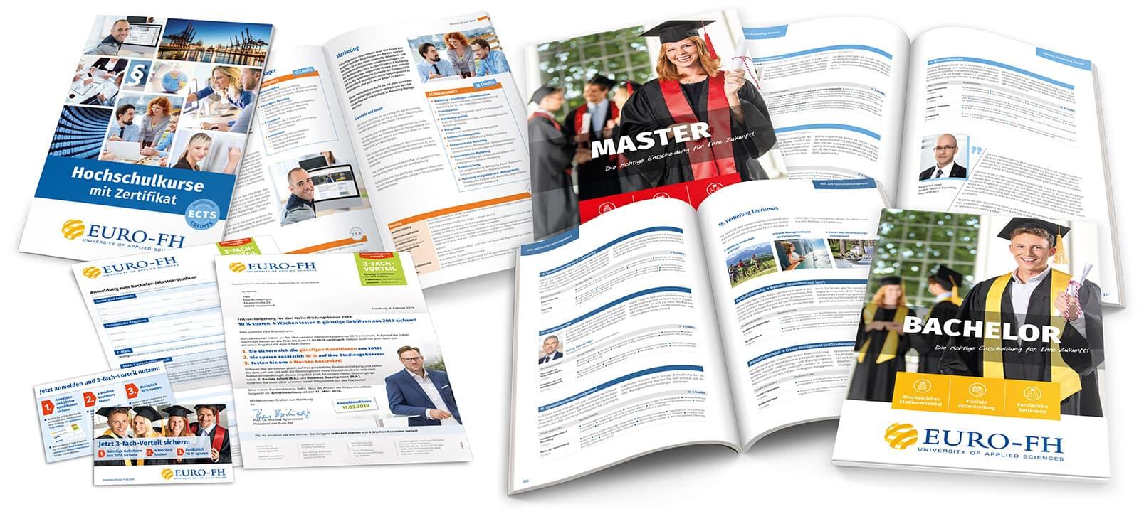 Euro-FH Printmaterialien Relaunch ab 2018 Rückemänner Werbeagentur