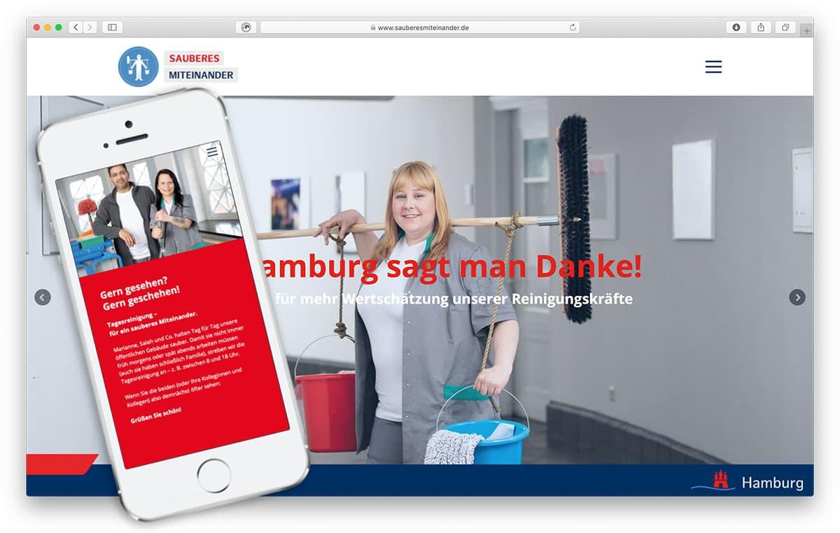 Rückemänner Werbeagentur Hamburg Webdesign Wertschätzungskampagne