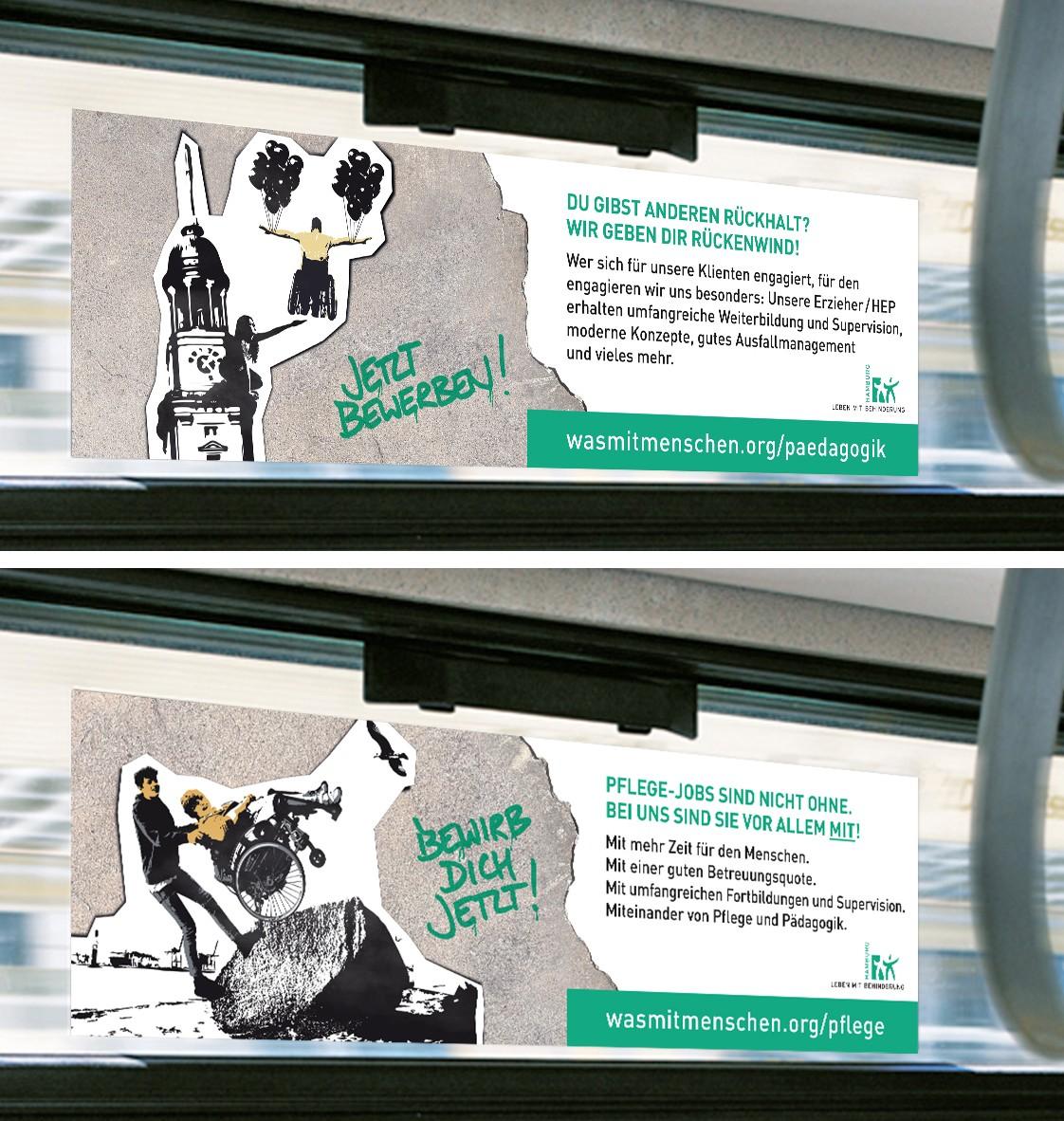 Leben mit Behinderung Seitenscheibenkleber Rückemänner Werbeagentur Hamburg