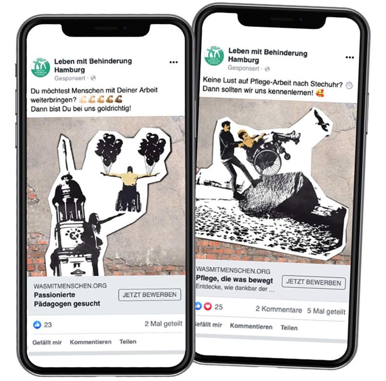 Leben mit Behinderung Facebook Ads Socialmedia Rückemänner Werbeagentur Hamburg